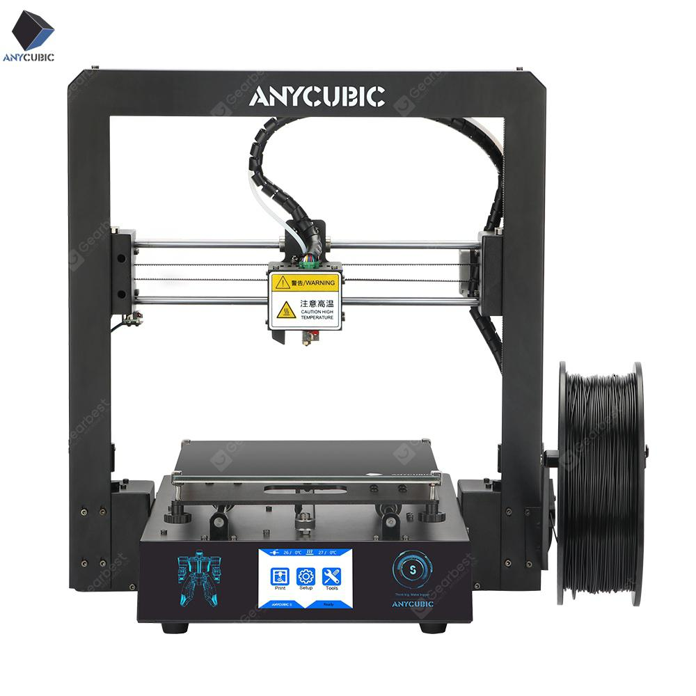 ANYCUBIC Mega-S 3D Printer I3 Mega Upgrade Large Plus Size Пълен метален TFT сензорен екран 3D Drucker - Черен Чехия 4% комисионни (entrep t EU)