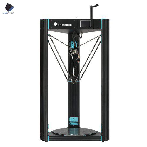ANYCUBIC 3D Printer Predator 370x370x455mm Largest Delta Pulley with Auto Leveling Plus Size - Black
