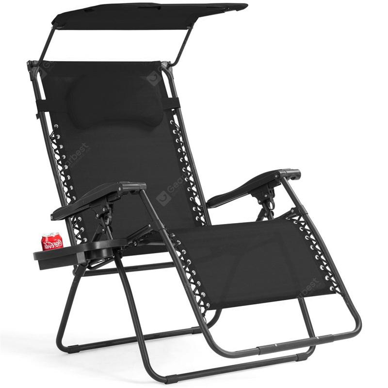 Folding Recliner Lounge Chair Shade