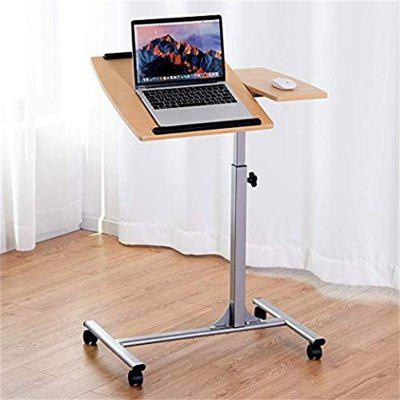 Adjustable Laptop Desk With Stand Holder And Wheels Durable Iron and mMDF Frame Desk HW58798