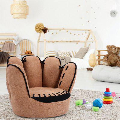Five Fingers Baseball Glove Shaped Kids Sofa Solid Wood Structure Small Sofa Chair