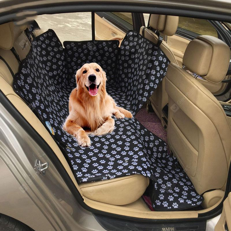 Waterproof Rear Back Pet Dog Car Seat Cover Mats Hammock Protector with Safety Belt - Black 130x150x38cm Spain