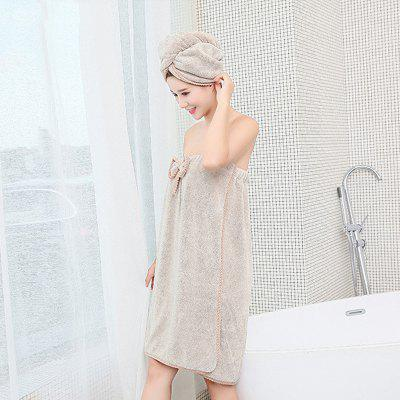 Women Bathroom Microfiber Bath Towels for adults Bath Robe Hair Towel Set