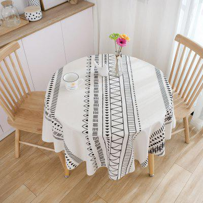 Decorative Table Cloth Cotton Linen Tablecloth Round Tablecloths Dining Table Cover