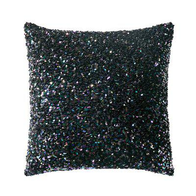 American Precision Sequins Pillowcase Nordic Solid Embroidery Sequins Decorative Cushion Cover