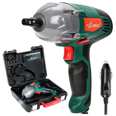 LANNERET Electric Wrench 12V Impact Wrench 300N.m 80W Torque Tire Repair Tool Cigarettelighter