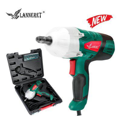 LANNERET 450W Electric Wrench Corded Impact Wrench Two-Direction Rocker Switch Double-sided Sockets