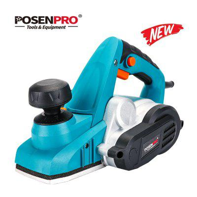 POSENPRO Electric Planer 900W Variable Cutting Depth with Dust Bag Parallel Fence Bracket