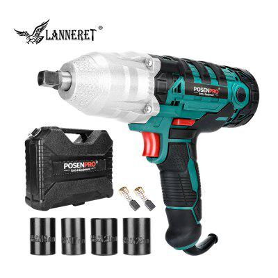 LANNERET PPIW450 450W Electric Impact Wrench 320N.m 2M Rubber Cable Car Socket Wrenches BMC Box
