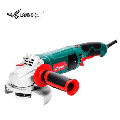 LANNERET Electric Angle Grinder 1050W 125mm Variable Speed 3000-10500RPM Toolless Guard
