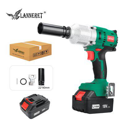 LANNERET 18V Brushless Cordless Impact Electric Wrench 300-600N.m Torque Household