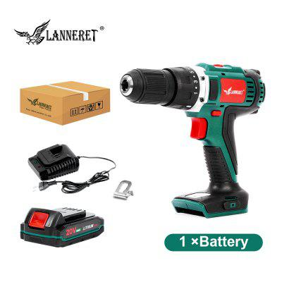 LANNERET 20V Cordless Drill Lithium Battery DIY Power Driver Variable Speed Electric Screwdriver
