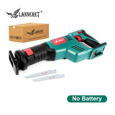 LANNERET Cordless Reciprocating Saw 20V Electric Saw 2.0Ah Li-ion Battery 22mm Stroke