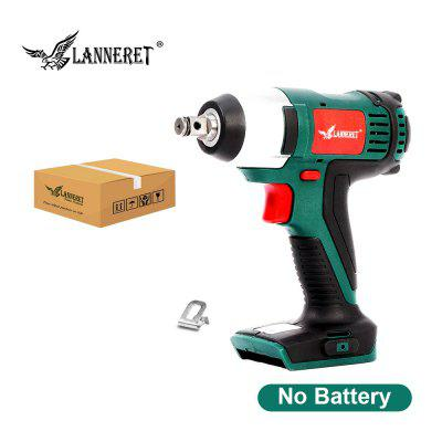 LANNERET Cordless Electric Wrench 20V Impact Wrench 150N.m LED Working Light 4.0Ah Lithium Battery