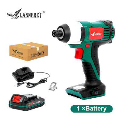 LANNERET 20V Electric Screwdriver Cordless Screw Driver Impact Drill 150NM Variable Speed