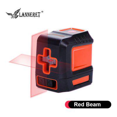 LANNERET Laser Level Green Red 2 Lines Horizontal Vertical Cross Lines Green Beam Red Beam