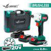 LANNERET Brushless Electric Screwdriver 20V Cordless Screw Driver Auto-stop Mode