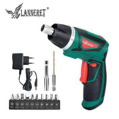 LANNERET 7.2V Li-Ion Cordless Electric Screwdriver Rechargeable Twistable Handle Drill