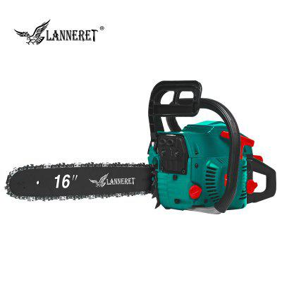 LANNERET 45CC Gasoline Chain Saw 2-Stroke Petrol Engine Chain Saw with Saw Chain and Blade