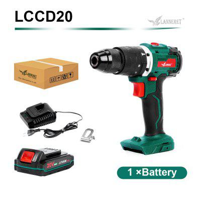 LANNERET Electric Drill Brushless Drill Brushed Drill 20V Cordless Drill Lithium Battery