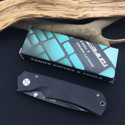 TONIFE CKT6108 NightThawk Folding Pocket Knife with 8Cr14MoV Blade G10 Handle with Liner Lock