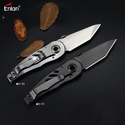 Enlan M01 Small Folding Knife 8Cr13MoV  With Blade Pocket Knife Clip Outdoor Hunting