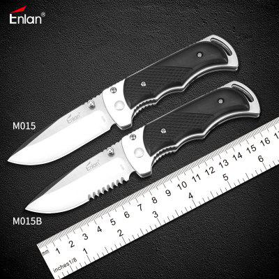 Enlan M015 Small Folding Knife 8Cr13Mov with Sanding Blade HRC Outdoor hunting