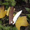 Enlan EM-01M Small EDC Folding Knife with 8Cr13MoV Blade Wood Handle Liner Lock