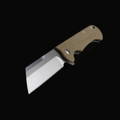 Folding Knife Tanto D2 Blade G10 Handle 58HRC Outdoor Camping Hunting EDC Tool Top Gear