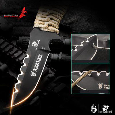 HX OUTDOORS D-178 440C Blade Outdoor Steel Handle Survival Knife with Tactical DIY Hand Tools