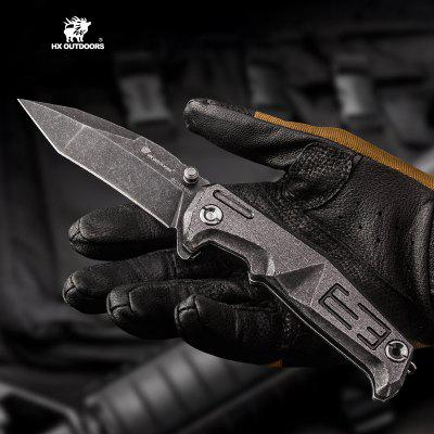 HX OUTDOORS ZD-013 E3 Tactical Folding Knife 60HRC 9RC18MOV Blade with Handle Army Knife EDC Tool