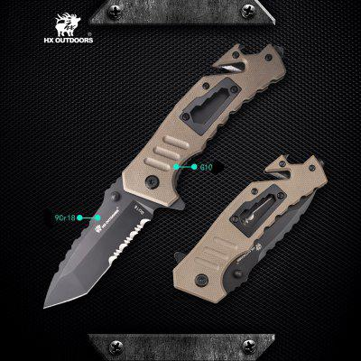 HX OUTDOORS ZD-016 G10 Handle 9Cr18Mov Blade Folding knife with Pocket EDC Camping Knife