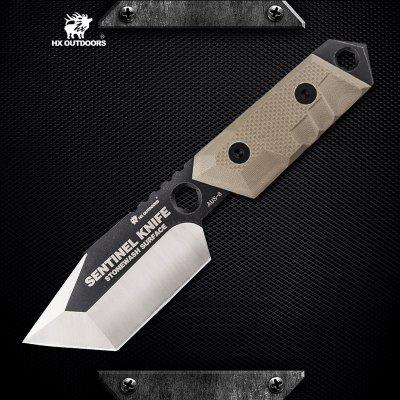 HX OUTDOORS D168 AUS-8 Blade Survival Tactical Fixed Knife with Outdoor Camping Hunting Diving knife