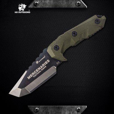 HX OUTDOORS D-170 D2 Blade Small Tactical Fixed Knife with Outdoor Camping Hunting Survival knife