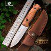 HX OUTDOORS TD-08 Camping Survival Fixed Knife AUS-8 Blade Rosewood Handle  knife with KYDEX Sheath