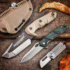 HX OUTDOORS D-165 D2 Blade Tactical Fixed Knife Camping Hunting with Multi-function Gear Mercenaries
