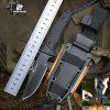 HX OUTDOORS D-171 Explorer Survival Fixed Knife D2 Blade Multi Tool Knives with KYDEX Sheath