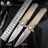 HX OUTDOORS ZD23 Folding Knife 9cr18Mov Blade G10 Handle Outdoor Camping Utility with EdC Tool Knife