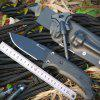 HX OUTDOORS TD-01 Locke Tactical Survival Knife D2 Blade G10 Handle Fixed Knife With KYDEX Sheath