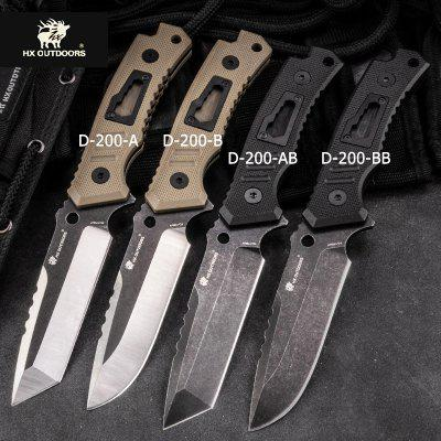 HX OUTDOORS D200 7CR14MOV Blade Fixed Knife Outdoor Camping Hunting Survival with EDC Utility Knife