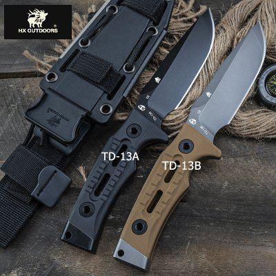 HX OUTDOORS TD-13 D2 BLADE tactical straight knife outdoor survival with Bushcraft Military