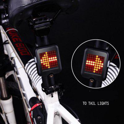 Smart Steering Bicycle Brake Tail Light Riding Warning Safety Light Riding Accessories