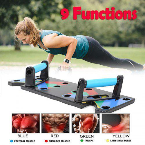 AB Fitness Crunch Trainer Abdominal Tool Push Up Workout Exerciser Home Gym