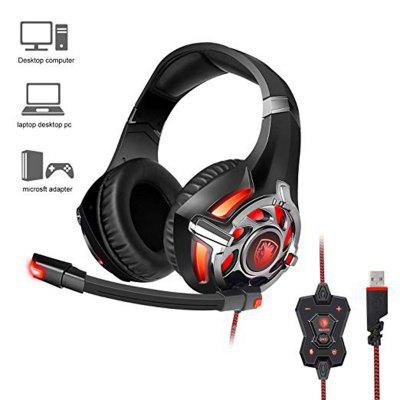 SADES R16 Gaming Headset Headphones USB 7.1 Surround Stereo Over Ear For PC Laptop Gamer
