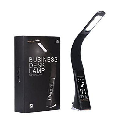 Gooseneck LED Office Desk Lamp Touch Leather-Like Dimming Reading Table Lamp Light