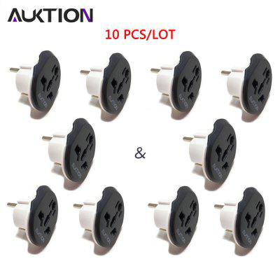 AUKTION 10Pcs 16A Universal EU Converter Adapter 250V For US UK AU