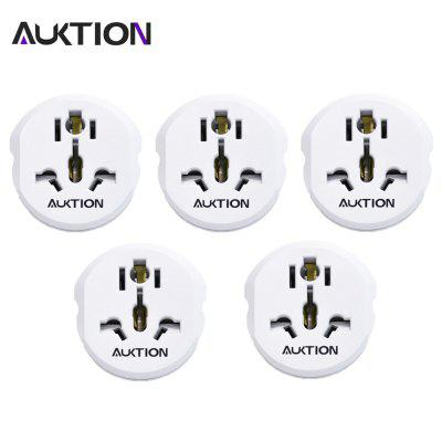 AUKTION 5Pcs 16A Universal EU Converter Adapter 250V For US UK AU