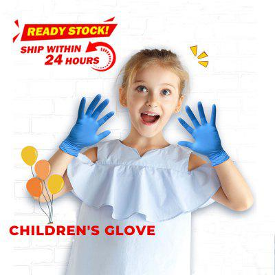 20PCS Children Blue Disposable Latex Gloves Nitrile Protective Safety Gloves
