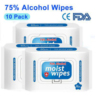 75% Alcohol Wipes Portable Hand Paper Disinfection Wipes Sterilization Cleaning Wet Wipes Paper