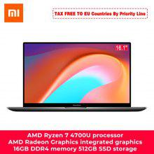 Xiaomi RedmiBook 16 Laptop Ryzen Edition With AMD Ryzen 4700U/4500U 16.1 Inch Display 100% sRGB Type C Charge 8GB DDR4 512GB SSD Notebook